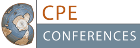 CPE Conferences with a globe in C shape and CPE text