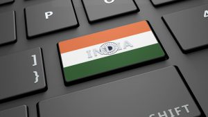India flag on keyboard key